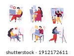 programmers characters. web... | Shutterstock .eps vector #1912172611
