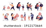 family characters. adults...   Shutterstock .eps vector #1912173664