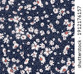 seamless spring floral pattern... | Shutterstock .eps vector #1912176157