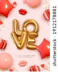 valentines day poster. romantic ... | Shutterstock .eps vector #1912178881