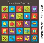 colored doodle icons with... | Shutterstock .eps vector #191217935