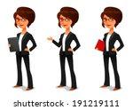 cute cartoon businesswoman in... | Shutterstock .eps vector #191219111