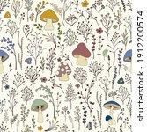 seamless pattern. set of... | Shutterstock .eps vector #1912200574