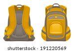 backpack front and rear view | Shutterstock .eps vector #191220569