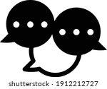 conversation icon vector...   Shutterstock .eps vector #1912212727