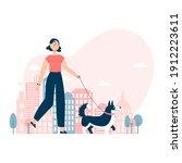 vector illustration. girl...   Shutterstock .eps vector #1912223611