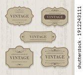 vector set vintage label and... | Shutterstock .eps vector #1912243111