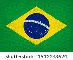 old vintage flag of brazil. | Shutterstock .eps vector #1912243624