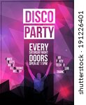 disco party flyer template  ... | Shutterstock .eps vector #191226401