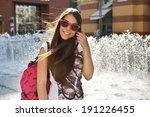 outdoor portrait o attractive... | Shutterstock . vector #191226455