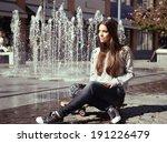 beautiful teen girl with... | Shutterstock . vector #191226479