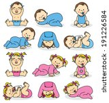 Vector Illustration Of Baby...