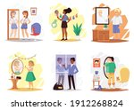 self acceptance set with people ... | Shutterstock .eps vector #1912268824