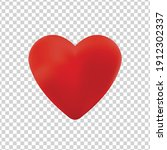 vector realistic isolated heart ... | Shutterstock .eps vector #1912302337