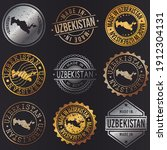 uzbekistan business metal... | Shutterstock .eps vector #1912304131