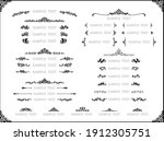 european classic style headline ... | Shutterstock .eps vector #1912305751