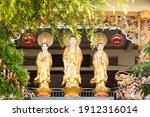 Statues Of Amitabha Buddha And...