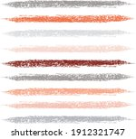 colorful vector brush srokes... | Shutterstock .eps vector #1912321747