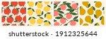 juicy pomegranates  lemons ... | Shutterstock .eps vector #1912325644