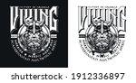 medieval scandinavian warrior... | Shutterstock .eps vector #1912336897