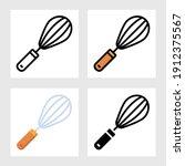 kitchen whisk icon vector...   Shutterstock .eps vector #1912375567