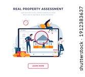 real property assessment banner.... | Shutterstock .eps vector #1912383637