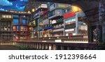 Light City   Night   2d Anime...
