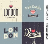 A Set Of London Themed Vintage...