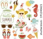 summer icon set  | Shutterstock .eps vector #191240621