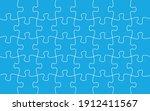 30 jigsaw pieces template.... | Shutterstock .eps vector #1912411567