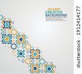 islamic greeting card banner... | Shutterstock .eps vector #1912414177