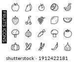outline fruits icon set...   Shutterstock .eps vector #1912422181