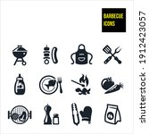 barbecue icons stock... | Shutterstock .eps vector #1912423057