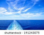 cruise ship wake or trail on... | Shutterstock . vector #191243075
