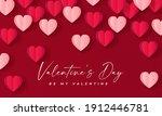happy valentine's day banner.... | Shutterstock .eps vector #1912446781