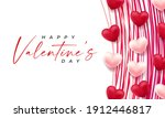 valentines day 3d hearts. cute...   Shutterstock .eps vector #1912446817