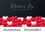 valentines day 3d hearts. cute...   Shutterstock .eps vector #1912446847
