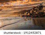 Sunset View Of Topanga Beach In ...