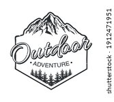 outdoor adventure lettering... | Shutterstock .eps vector #1912471951
