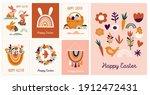 boho easter concept design ... | Shutterstock .eps vector #1912472431