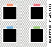 set of old photo empty frame...   Shutterstock .eps vector #1912475551