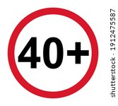 40  restriction flat sign...