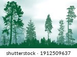 illustration with green forest... | Shutterstock .eps vector #1912509637