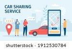 car sharing service. big... | Shutterstock .eps vector #1912530784