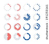 loading and buffering icon set. ... | Shutterstock .eps vector #191253161