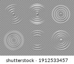 ripples top view. realistic... | Shutterstock .eps vector #1912533457