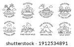 adventure line badges. outdoor... | Shutterstock .eps vector #1912534891