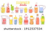cartoon juice and lemonade.... | Shutterstock .eps vector #1912537534