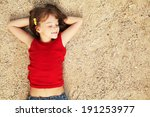 smiling cute little girl lying... | Shutterstock . vector #191253977