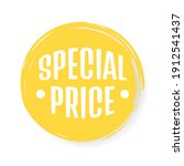 special price tag. vector... | Shutterstock .eps vector #1912541437